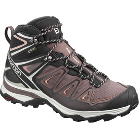 Salomon X Ultra 3 Mid GTX Shoes Women peppercorn/black/coral almond